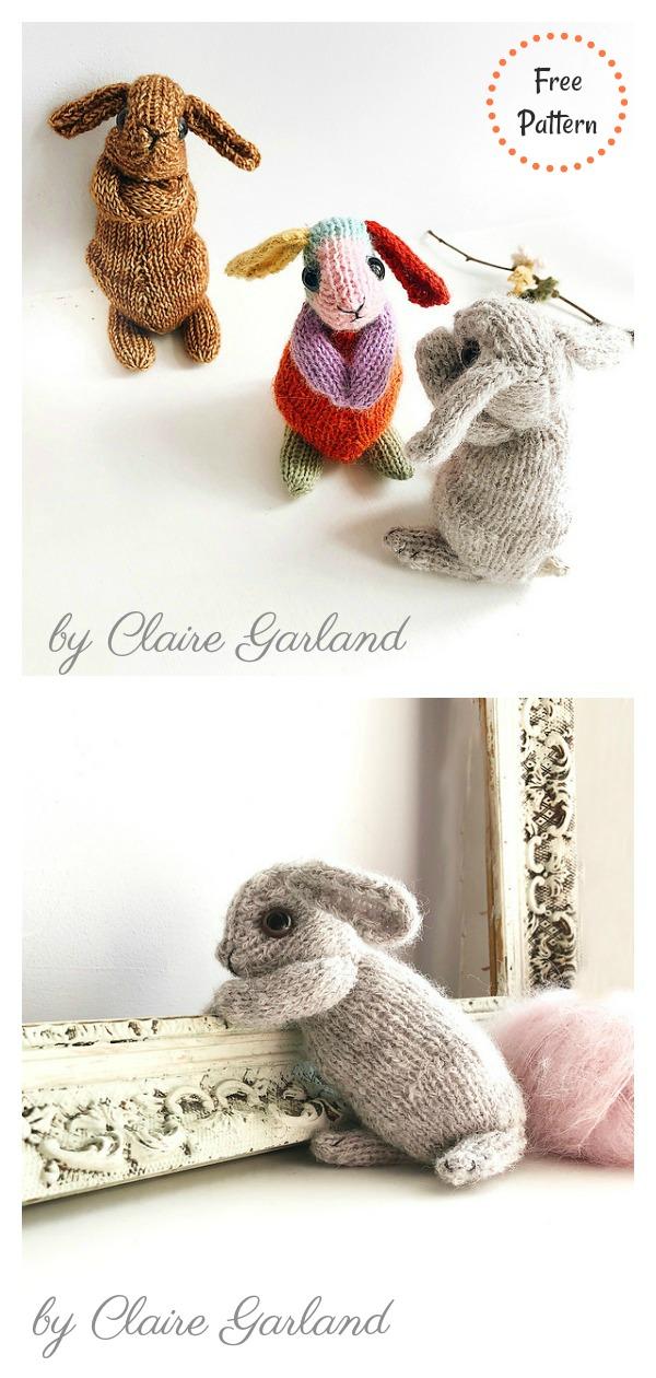 Beginner's Bunny Rabbit Free Knitting Pattern