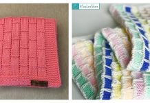 Brick Work Baby Blanket Free Knitting Pattern
