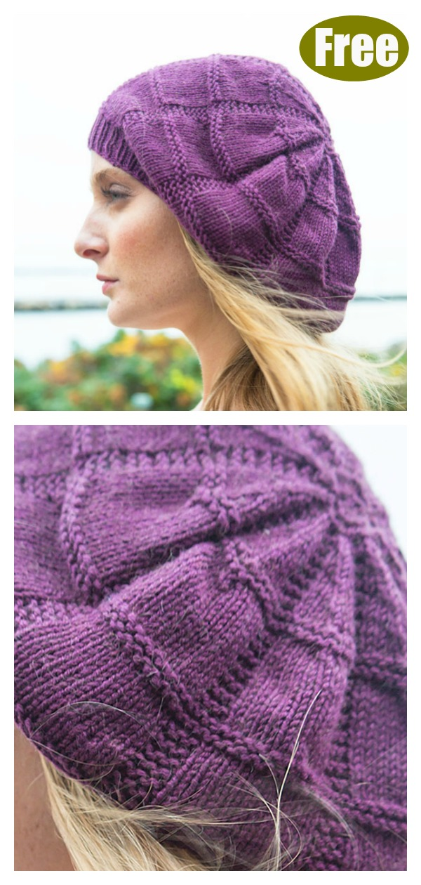Simply Slouchy Beret Hat Free Knitting Pattern