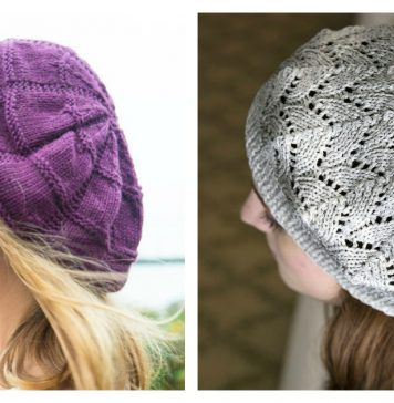 Slouchy Beret Free Knitting Pattern