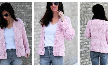 Cotton Candy Beginner Cardigan Free Knitting Pattern