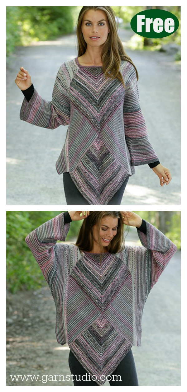 Diamond Cut Sweater Free Knitting Pattern