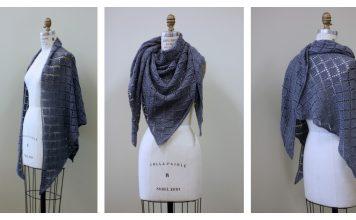 Diamond Lace Wrap Free Knitting Pattern