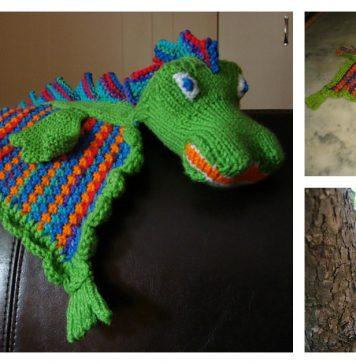 Dragon Lovey Blanket Free Knitting Pattern