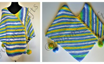 Easy Garter Stitch Poncho Free Knitting Pattern