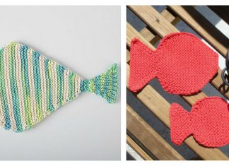 Fish Washcloth Free Knitting Pattern