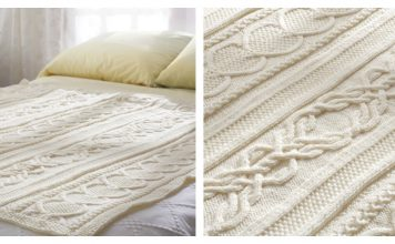 Gift Of Love Cable Afghan Blanket Free Knitting Pattern