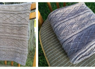 Guernsey Style Baby Blanket Free Knitting Pattern