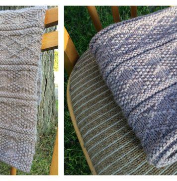 Guernsey Style Baby Blanket Free Knitting Pattern