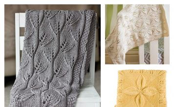 Lace Leafy Baby Blanket Free Knitting Pattern