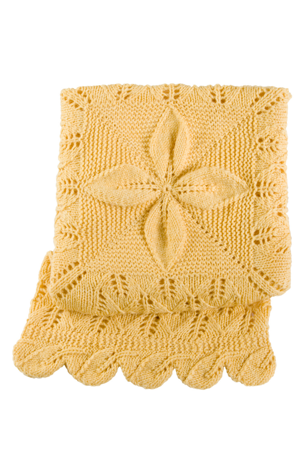 Lacy Leafy Afghan Baby Blanket Free Knitting Pattern