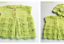 Lily's Baby Cardigan Free Knitting Pattern