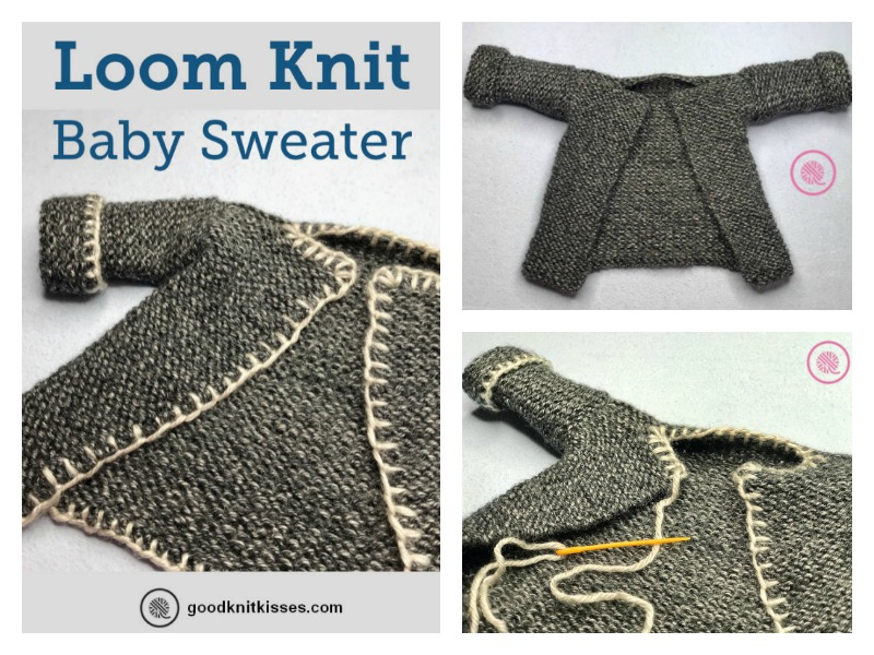 Loom Knit Baby Sweater Free Pattern And Video Tutorial