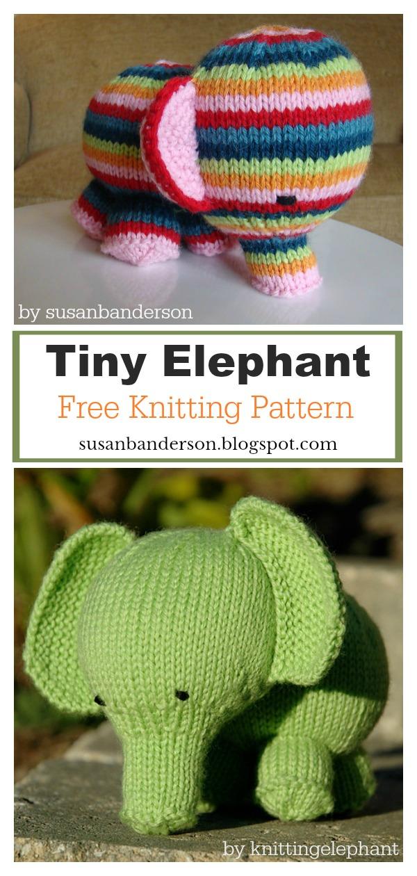 Tiny Elephant Amigurumi Free Knitting Pattern