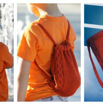 Treasure Backpack Free Knitting Pattern
