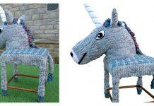 Unicorn Stool Cover Free Knitting Pattern