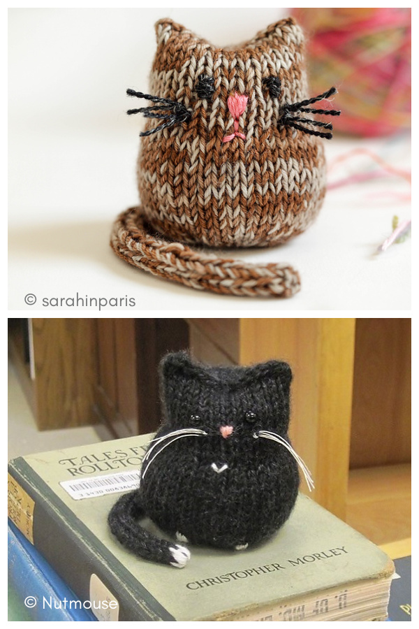 Beans the Cat Free Knitting Pattern