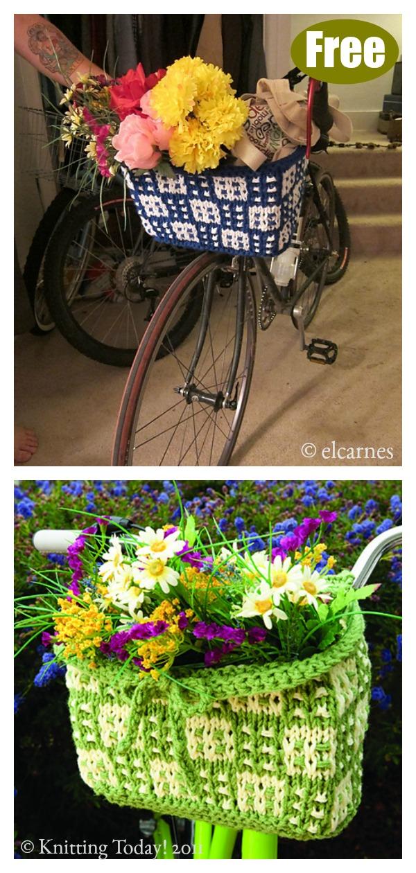 Bike Basket Free Knitting Pattern