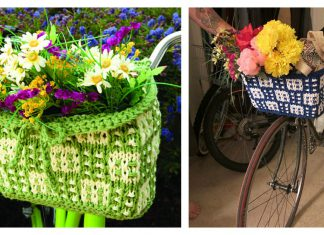 Bike Basket Free Knitting Pattern
