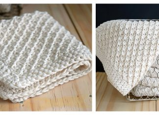 Daisy Stitch Washcloth Free Knitting Pattern and Video Tutorial