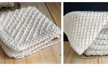 Daisy Stitch Washcloth Free Knitting Pattern and Video Tutorial