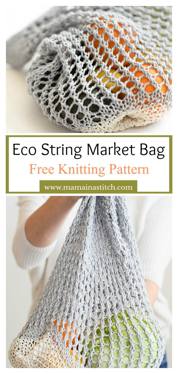 Eco String Market Bag Free Knitting Pattern