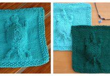 Embossed Turtle Dishcloth Free Knitting Pattern