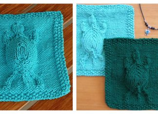 Embossed Turtle Dishcloth Free Knitting Pattern