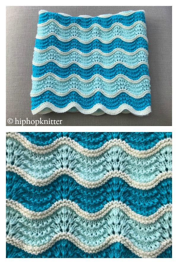 Feather & Fan Baby Blanket Free Knitting Pattern
