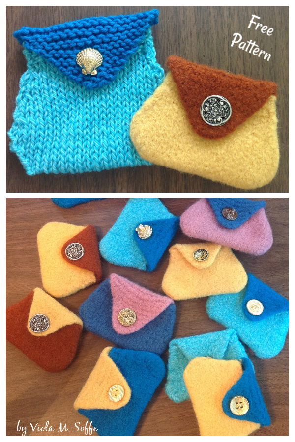 Felted Coin Purse Free Knitting Pattern