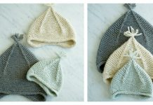 Garter Ear Flap Hat Free Knitting Pattern