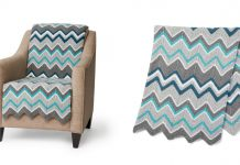 Garter Stitch Zig Zag Blanket Free Knitting Pattern