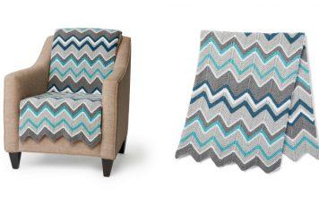 Garter Stitch Zig Zag Blanket Free Knitting Pattern