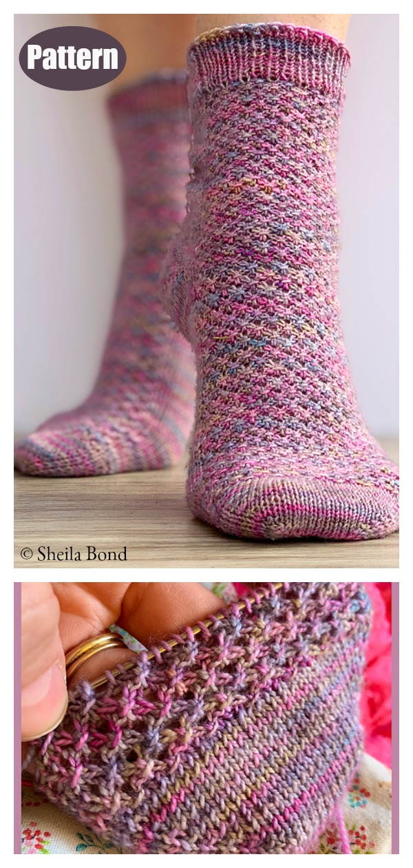 Hedgehog Socks Knitting Pattern