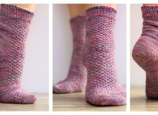 Hedgehog Socks Knitting Pattern