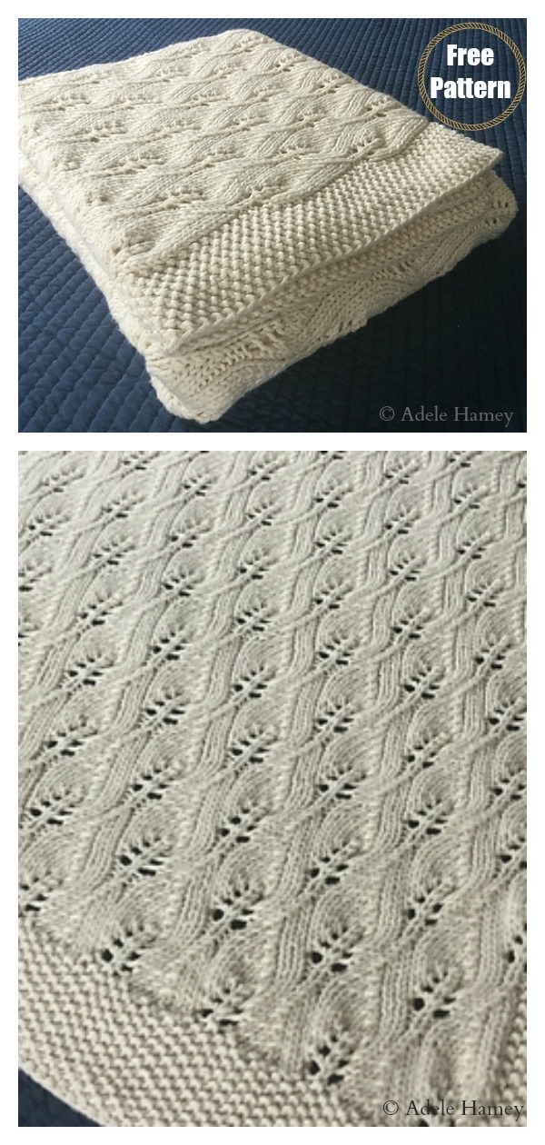 Lace Leafy Wedding Throw Free Knitting Pattern