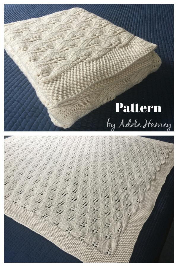 Lace Leafy Wedding Throw Knitting Pattern