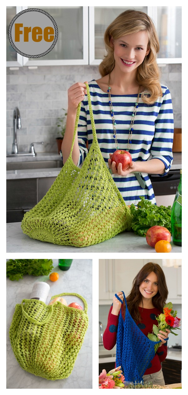 Lacy Market Bag Free Knitting Pattern