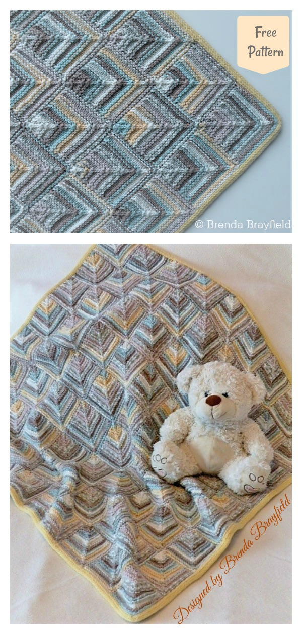 Magic Tiles Blanket Free Knitting Pattern