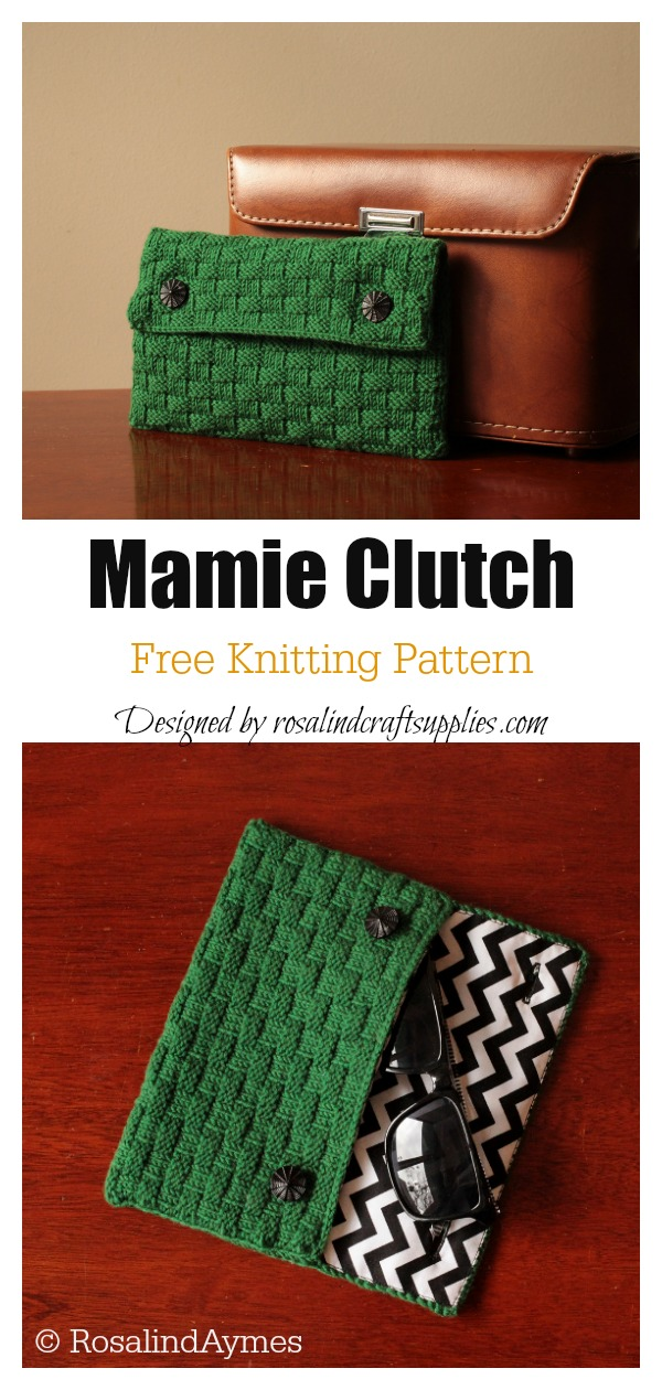 Mamie Clutch Free Knitting Pattern