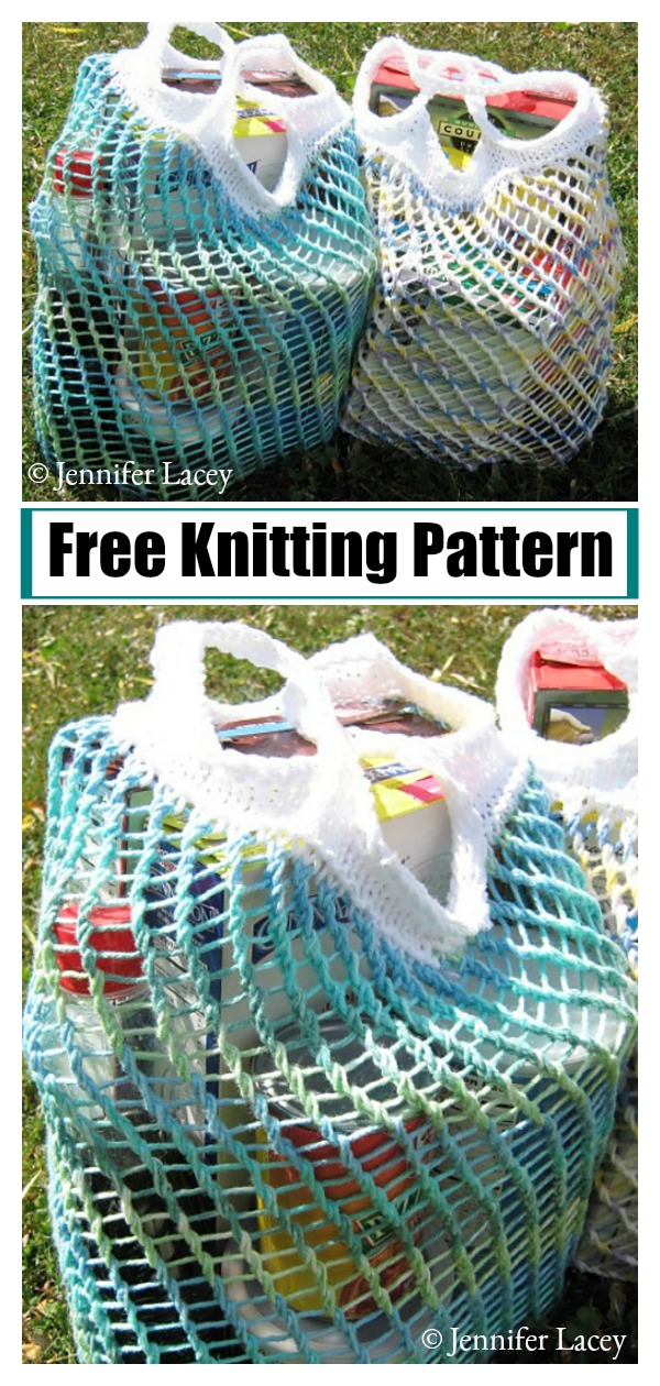 Mesh Market Bag Free Knitting Pattern
