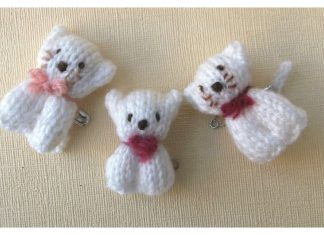 Mini Bear and Cat Free Knitting Pattern