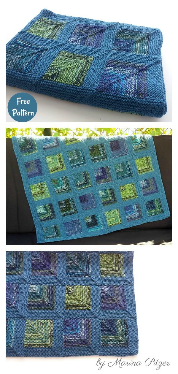 Mitered Corner Baby Blanket Free Knitting Pattern