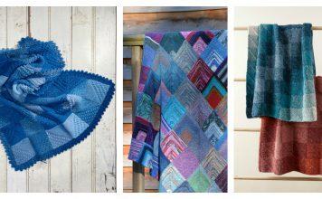 Mitered Corner Blanket Free Knitting Pattern