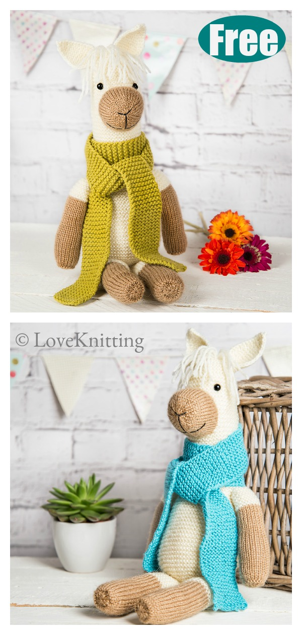 Pax the Alpaca Amigurumi Free Knitting Pattern
