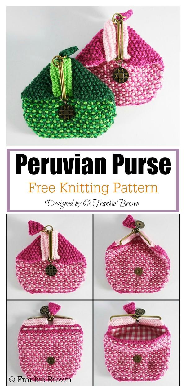 Peruvian Coin Purse Free Knitting Pattern