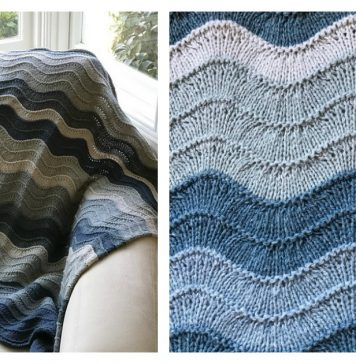 Waves Blanket Free Knitting Pattern