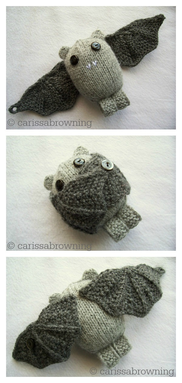 Amigurumi Boo Bat Knitting Pattern