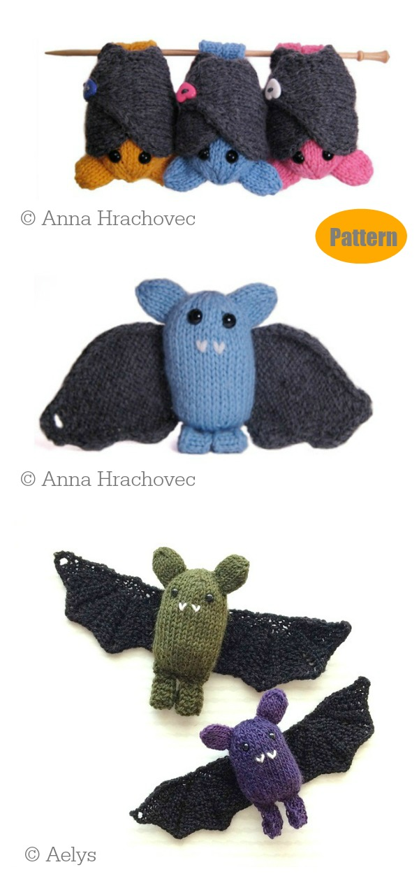 Amigurumi Boo The Bat Knitting Pattern