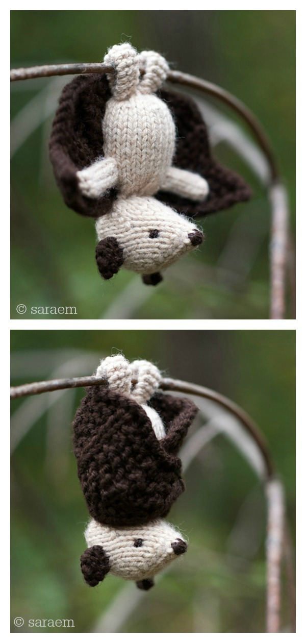 Amigurumi Phoebe Flappy Bat Free Knitting Pattern